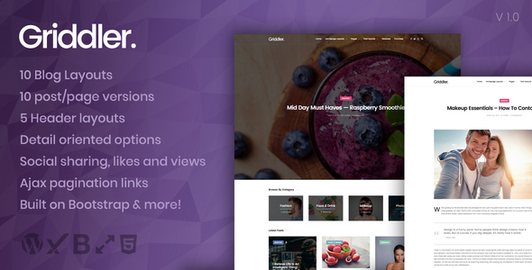Griddler Preview Wordpress Theme - Rating, Reviews, Preview, Demo & Download