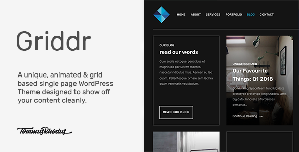 Griddr Preview Wordpress Theme - Rating, Reviews, Preview, Demo & Download