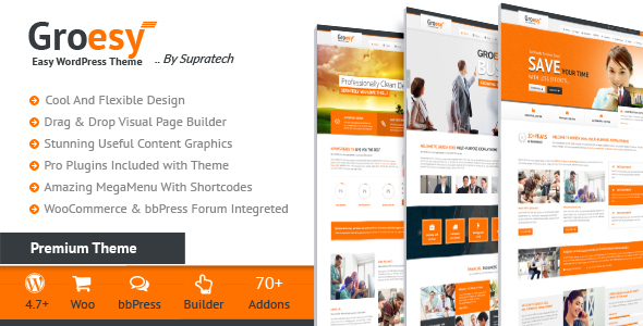 Groesy Preview Wordpress Theme - Rating, Reviews, Preview, Demo & Download