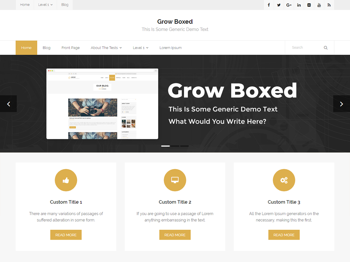 Grow Boxed Preview Wordpress Theme - Rating, Reviews, Preview, Demo & Download