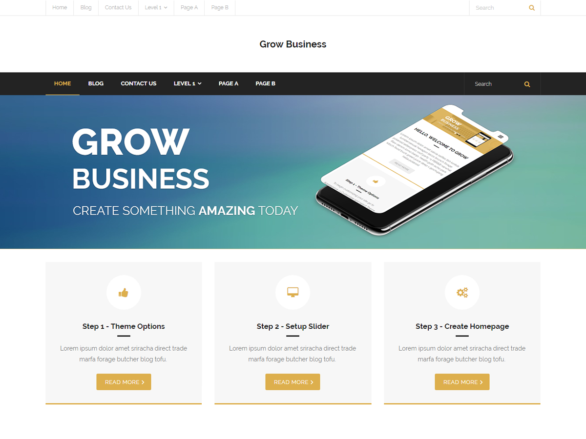 Grow Business Preview Wordpress Theme - Rating, Reviews, Preview, Demo & Download