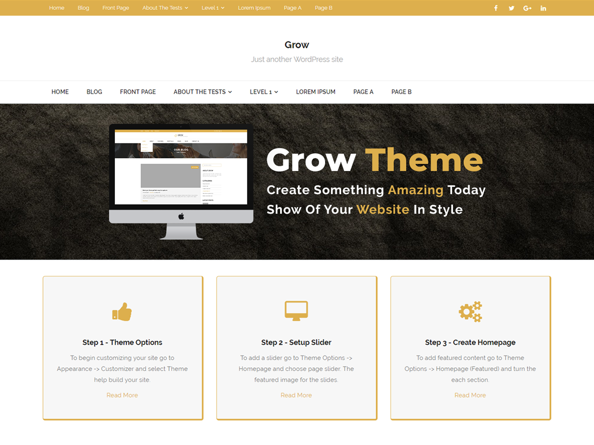 Grow EBusiness Preview Wordpress Theme - Rating, Reviews, Preview, Demo & Download