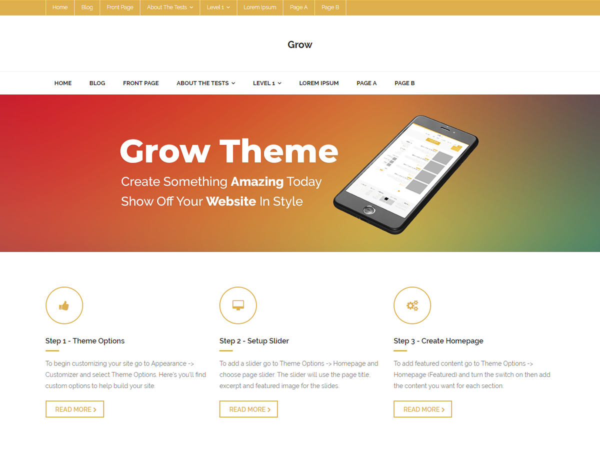 Grow Magazine Preview Wordpress Theme - Rating, Reviews, Preview, Demo & Download