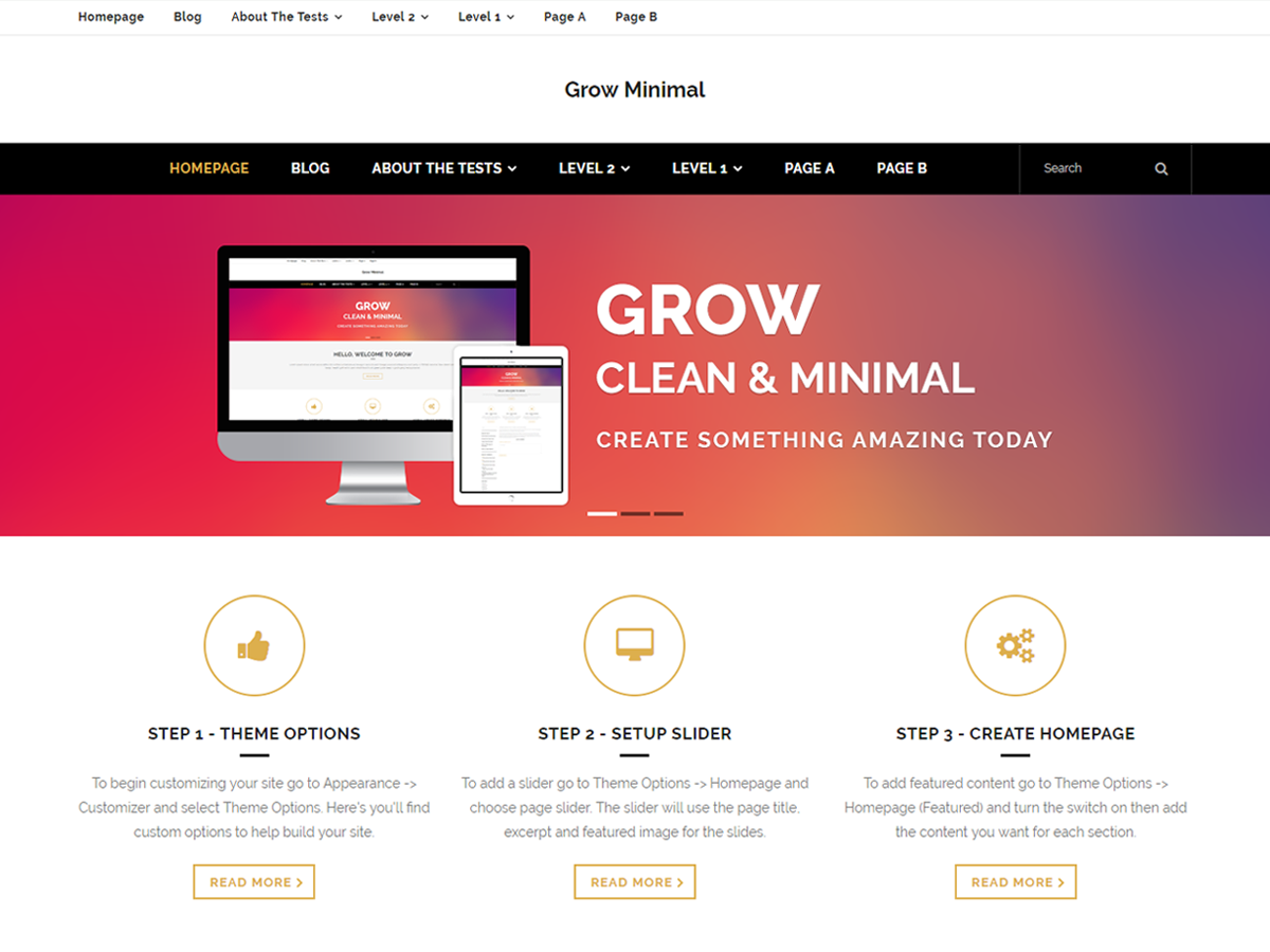 Grow Minimal Preview Wordpress Theme - Rating, Reviews, Preview, Demo & Download