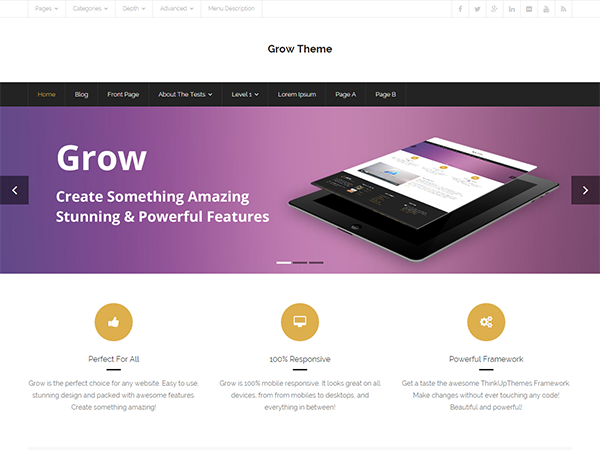Grow Preview Wordpress Theme - Rating, Reviews, Preview, Demo & Download