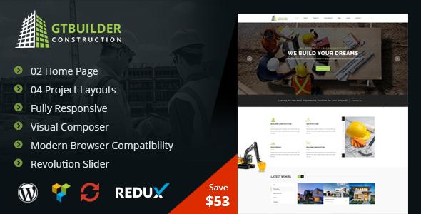 GTBuilder Preview Wordpress Theme - Rating, Reviews, Preview, Demo & Download