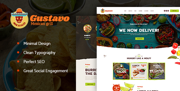 Gustavo Preview Wordpress Theme - Rating, Reviews, Preview, Demo & Download