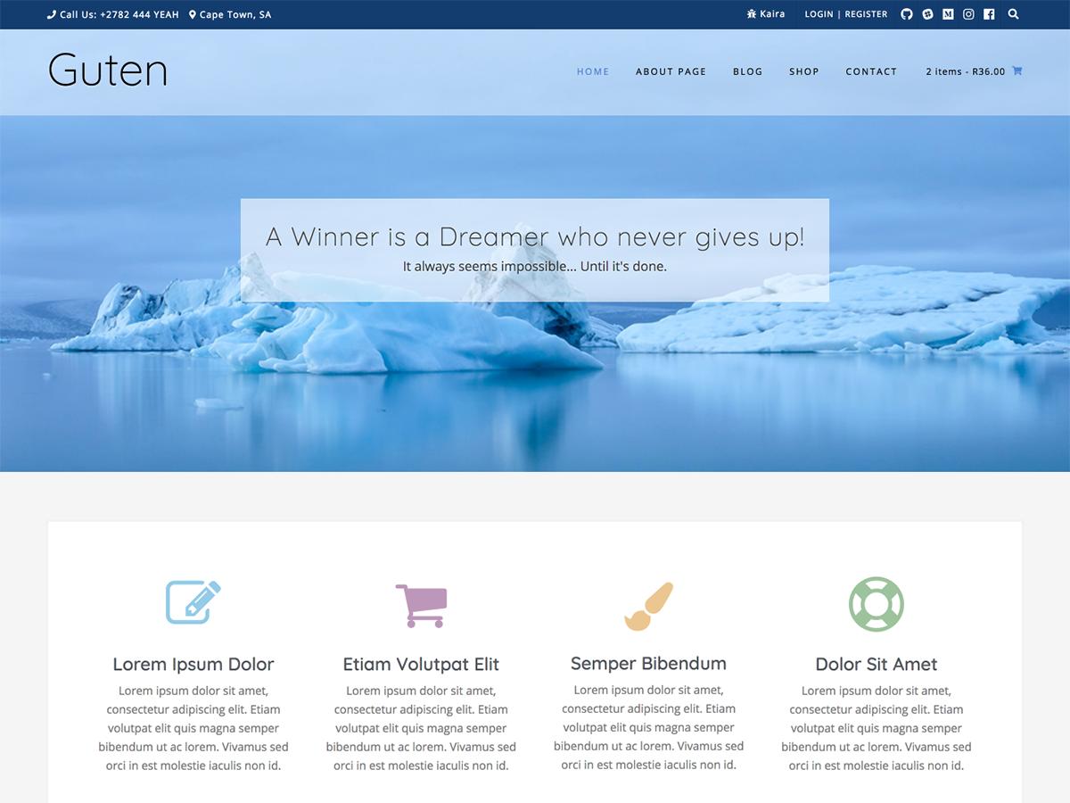 Guten Preview Wordpress Theme - Rating, Reviews, Preview, Demo & Download