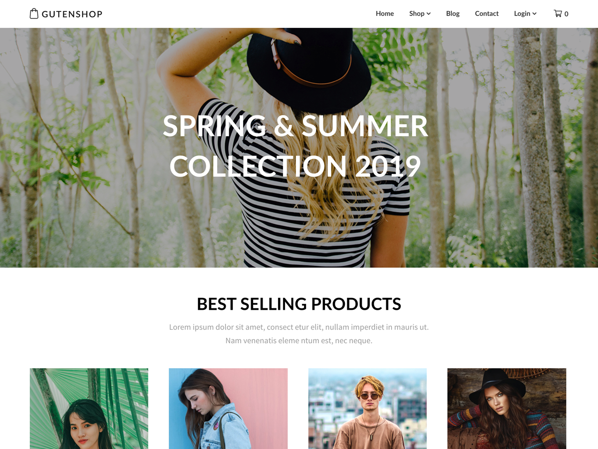 Gutenshop Preview Wordpress Theme - Rating, Reviews, Preview, Demo & Download