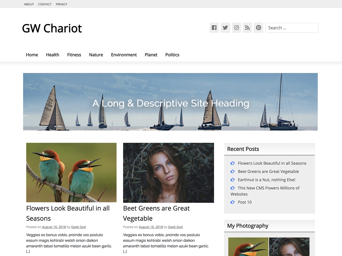 GW Chariot Preview Wordpress Theme - Rating, Reviews, Preview, Demo & Download