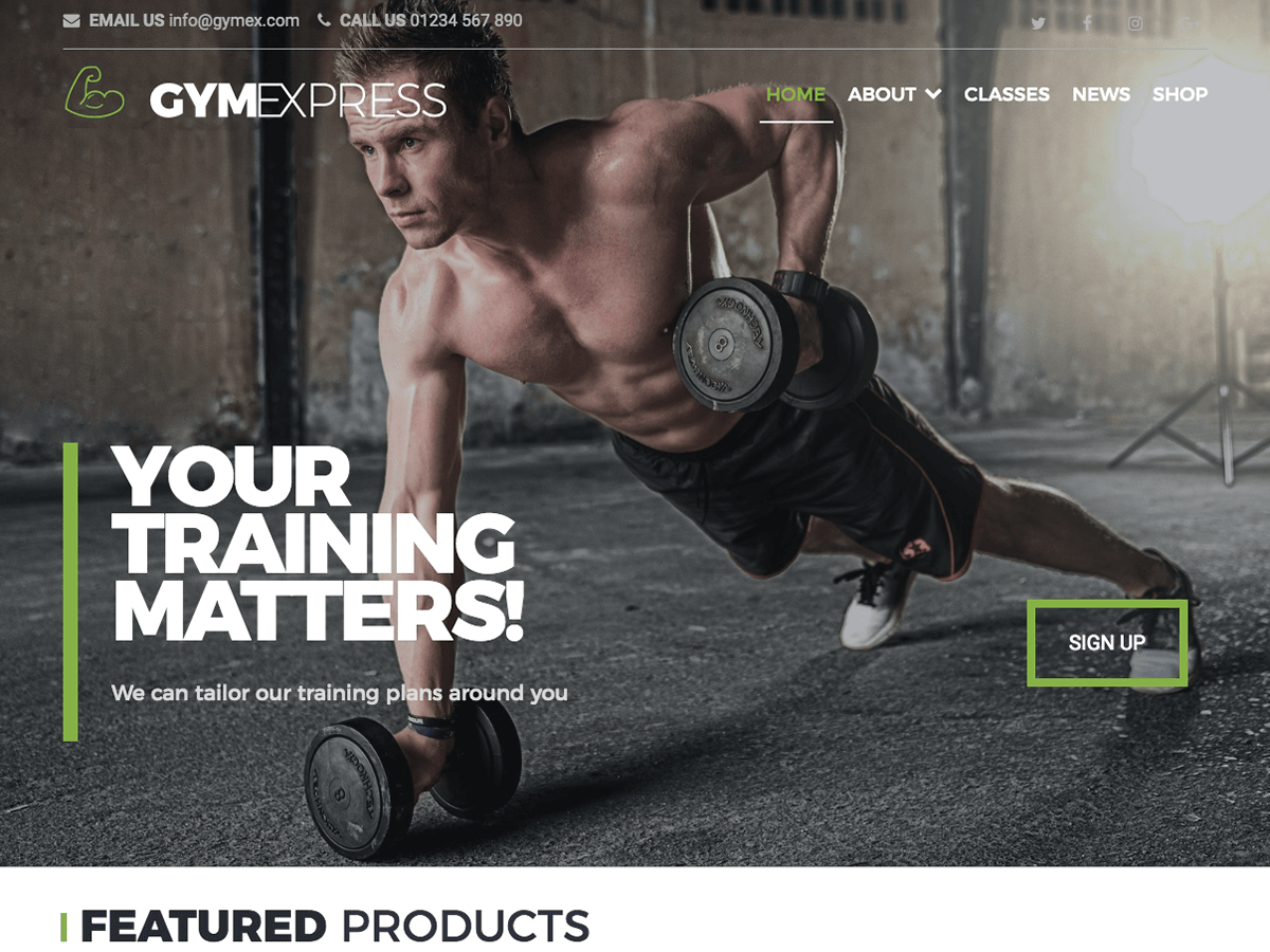 Gym Express Preview Wordpress Theme - Rating, Reviews, Preview, Demo & Download