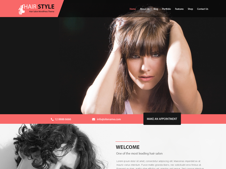 Hairstyle Preview Wordpress Theme - Rating, Reviews, Preview, Demo & Download
