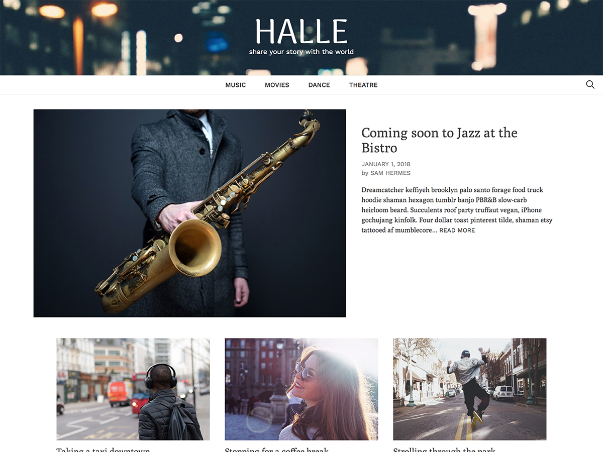 Halle Preview Wordpress Theme - Rating, Reviews, Preview, Demo & Download