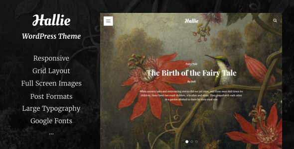 Hallie Preview Wordpress Theme - Rating, Reviews, Preview, Demo & Download