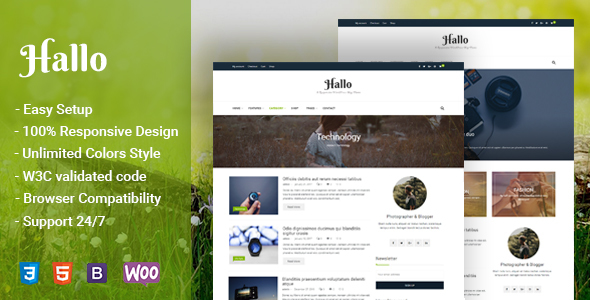 Hallo Preview Wordpress Theme - Rating, Reviews, Preview, Demo & Download
