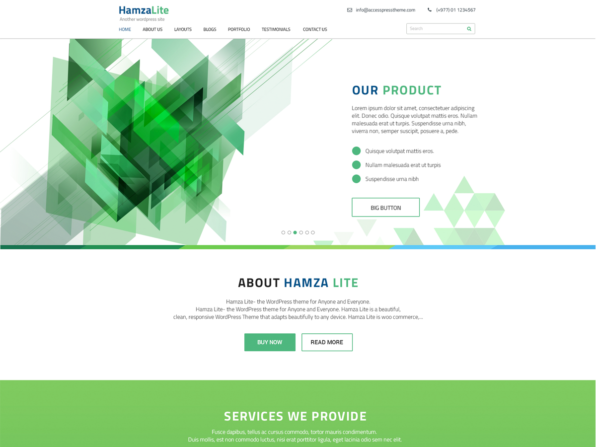 Hamza Lite Preview Wordpress Theme - Rating, Reviews, Preview, Demo & Download