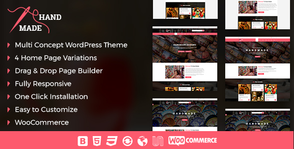 Handmade Product Preview Wordpress Theme - Rating, Reviews, Preview, Demo & Download