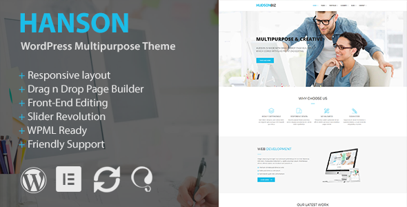 Hanson Preview Wordpress Theme - Rating, Reviews, Preview, Demo & Download