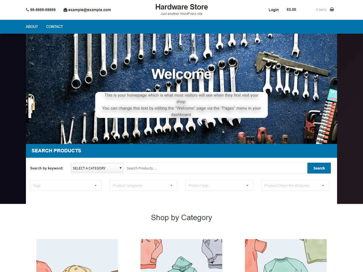Hardware Store Preview Wordpress Theme - Rating, Reviews, Preview, Demo & Download