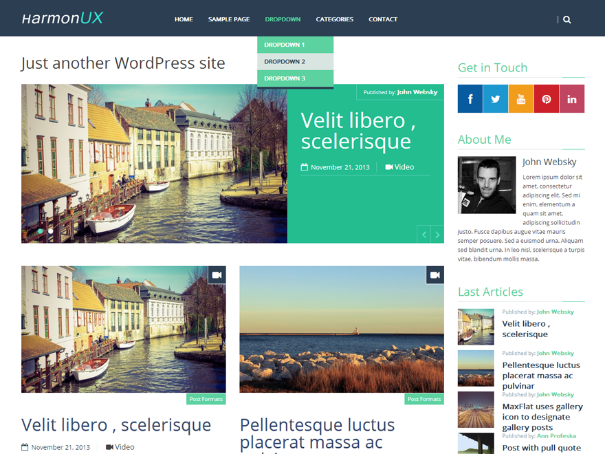 HarmonUX Core Preview Wordpress Theme - Rating, Reviews, Preview, Demo & Download