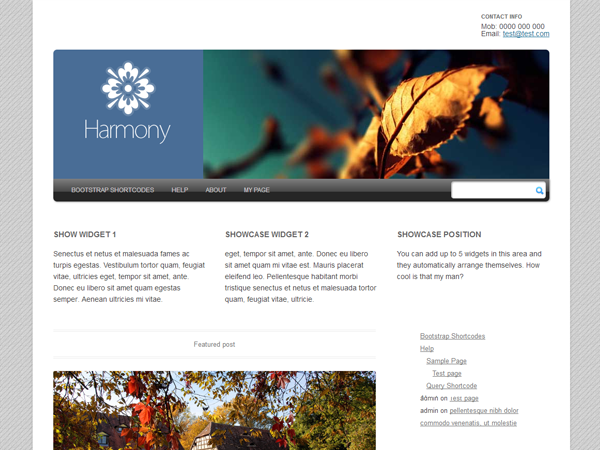 Harmony 2 Preview Wordpress Theme - Rating, Reviews, Preview, Demo & Download