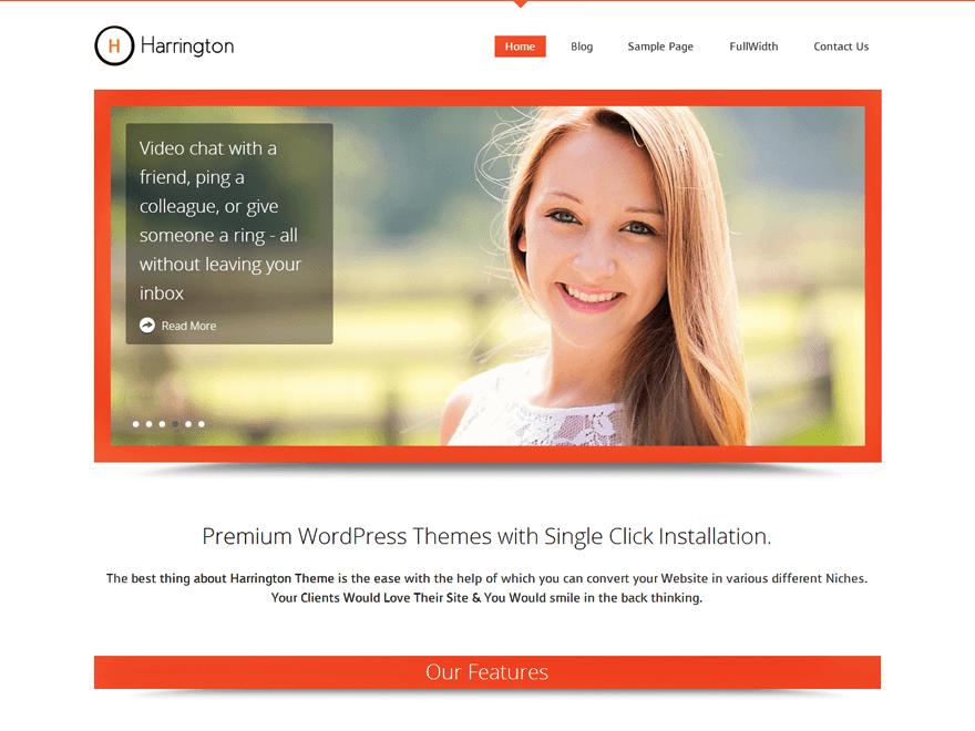 Harrington Preview Wordpress Theme - Rating, Reviews, Preview, Demo & Download