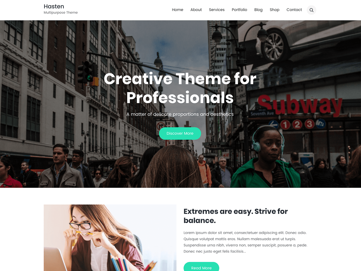 Hasten Preview Wordpress Theme - Rating, Reviews, Preview, Demo & Download
