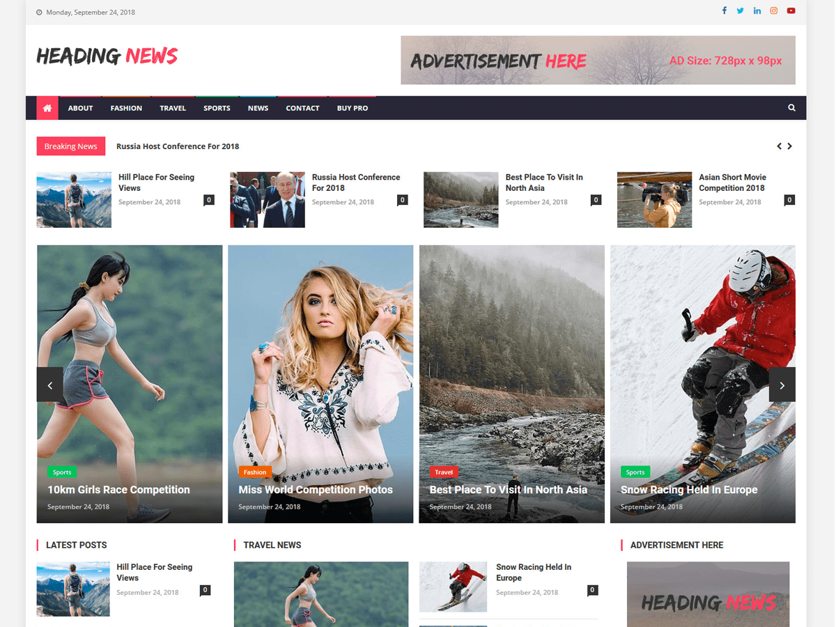 Heading News Preview Wordpress Theme - Rating, Reviews, Preview, Demo & Download