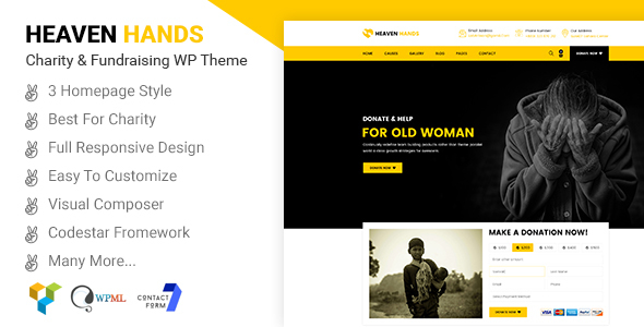 Heaven Hands Preview Wordpress Theme - Rating, Reviews, Preview, Demo & Download