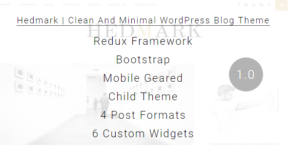 Hedmark Preview Wordpress Theme - Rating, Reviews, Preview, Demo & Download