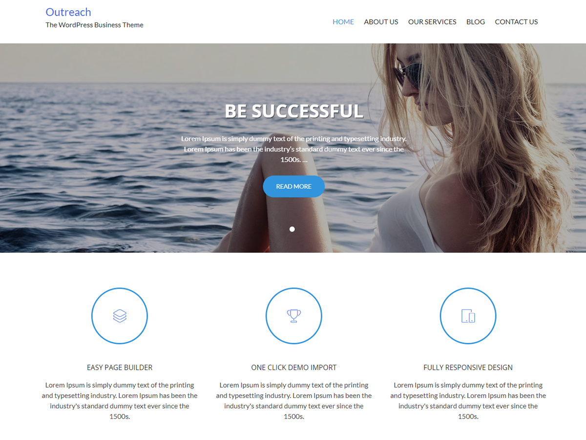 Hedwix Outreach Preview Wordpress Theme - Rating, Reviews, Preview, Demo & Download