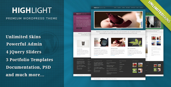 Highlight Preview Wordpress Theme - Rating, Reviews, Preview, Demo & Download