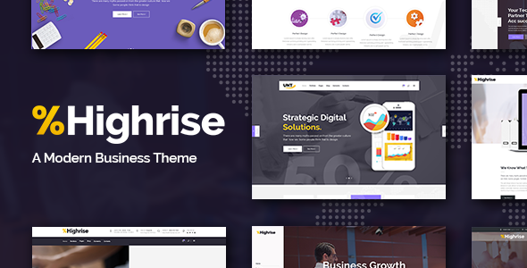 Highrise Preview Wordpress Theme - Rating, Reviews, Preview, Demo & Download