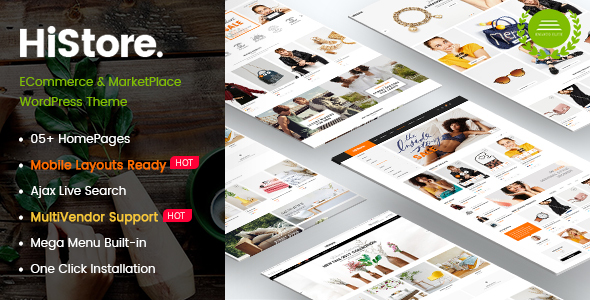 HiStore Preview Wordpress Theme - Rating, Reviews, Preview, Demo & Download