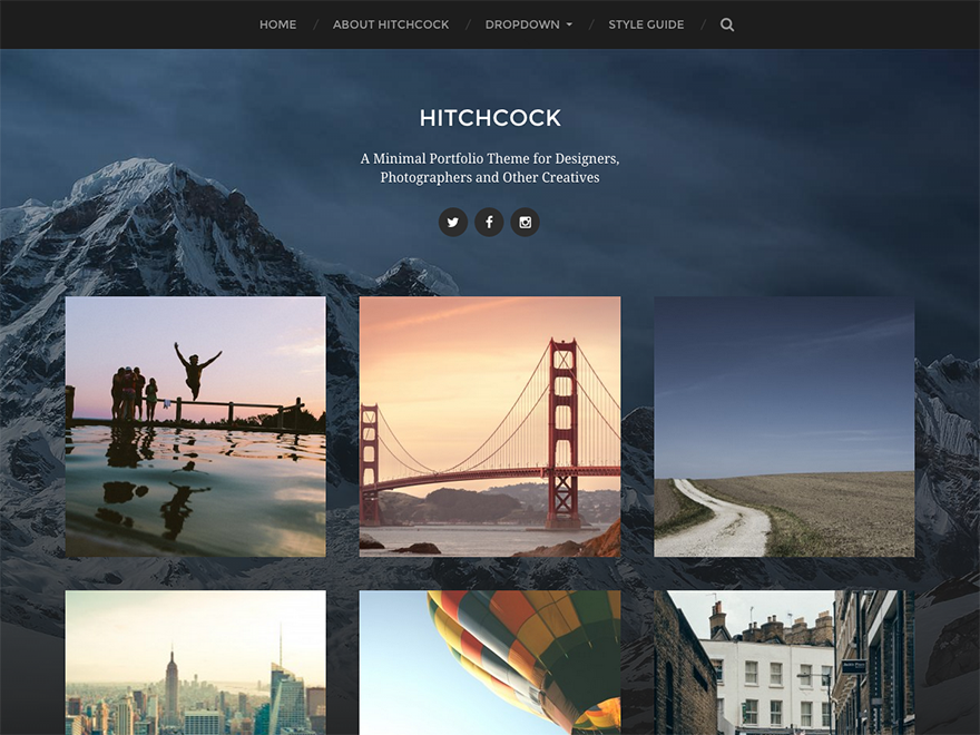 Hitchcock Preview Wordpress Theme - Rating, Reviews, Preview, Demo & Download