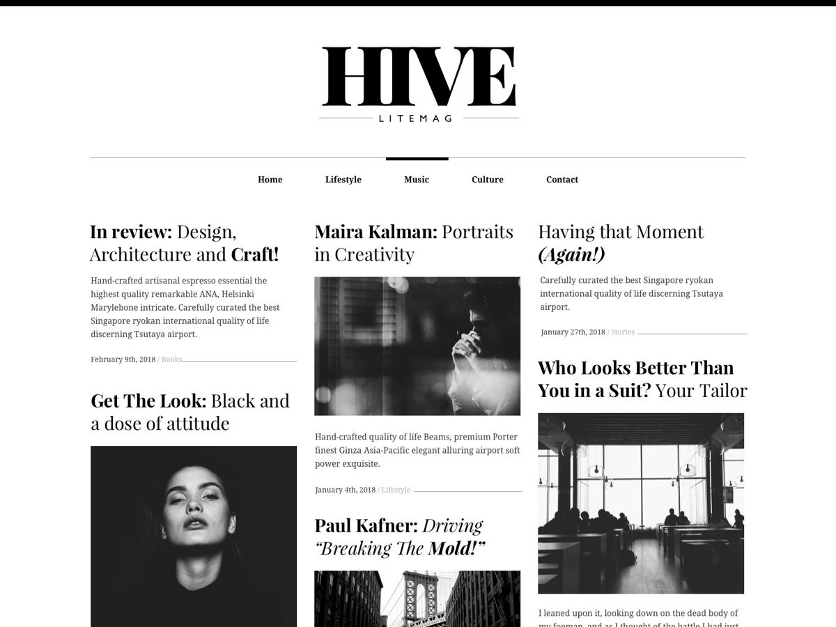 Hive Lite Preview Wordpress Theme - Rating, Reviews, Preview, Demo & Download
