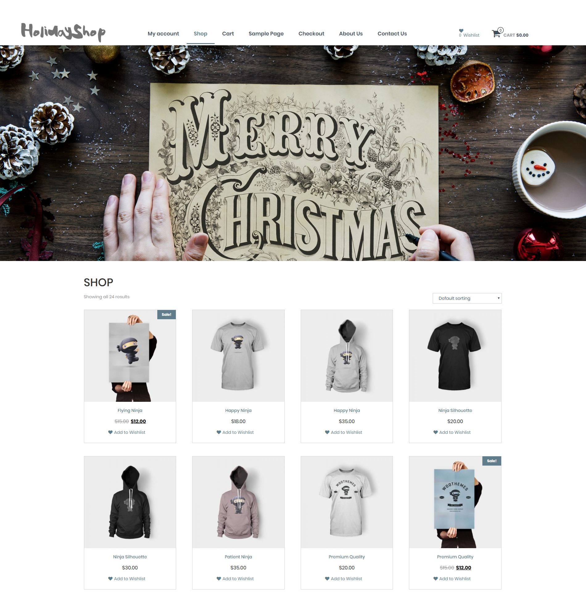 Holidayshop Preview Wordpress Theme - Rating, Reviews, Preview, Demo & Download