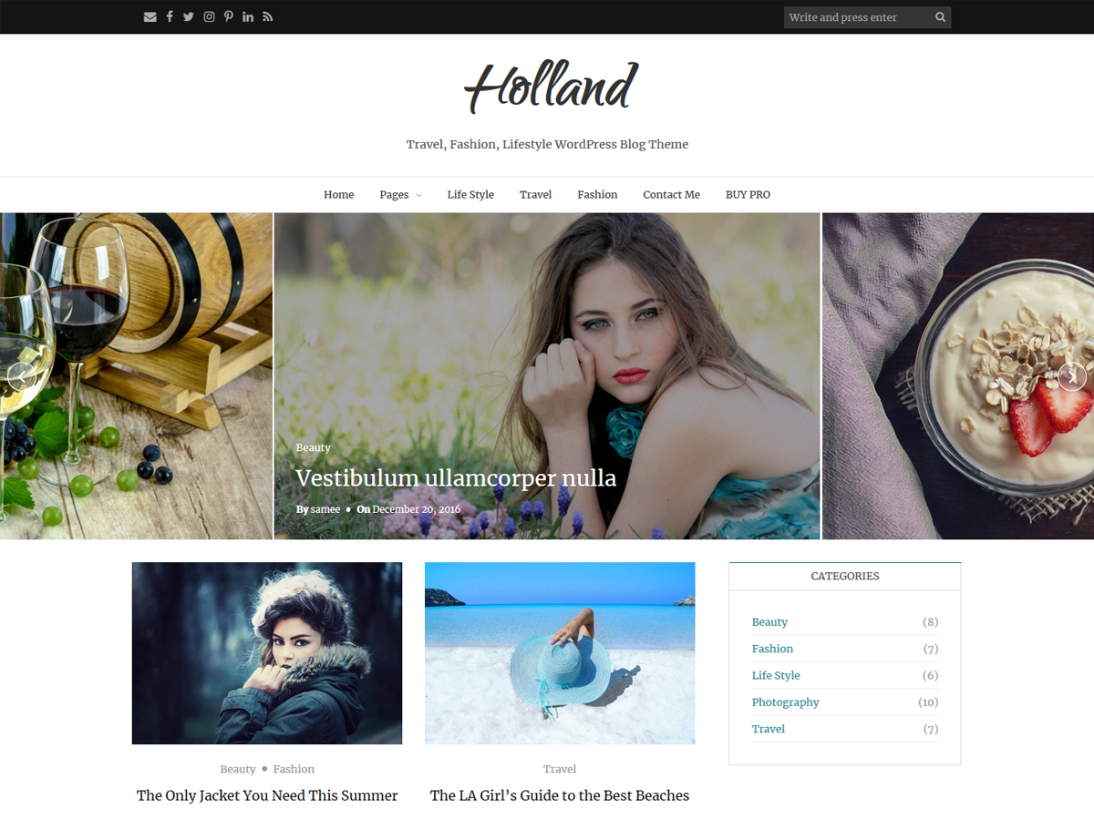 Holland Preview Wordpress Theme - Rating, Reviews, Preview, Demo & Download