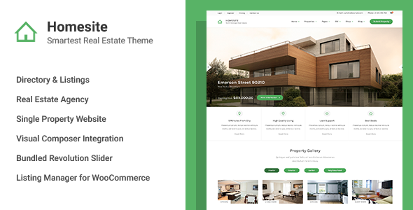 Homesite Preview Wordpress Theme - Rating, Reviews, Preview, Demo & Download