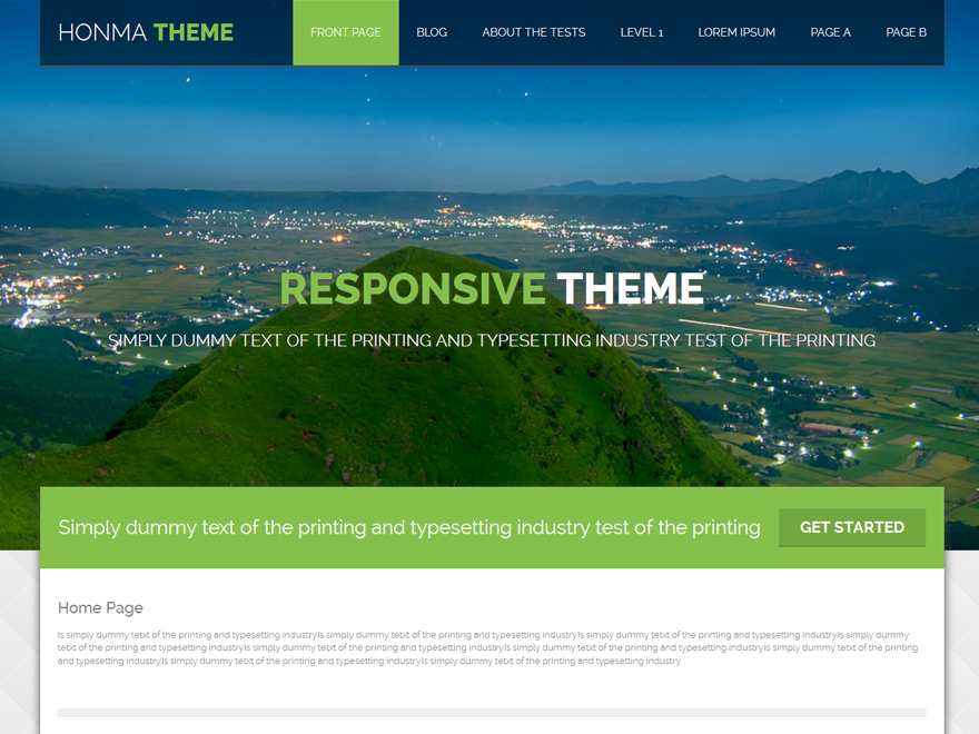Honma Preview Wordpress Theme - Rating, Reviews, Preview, Demo & Download