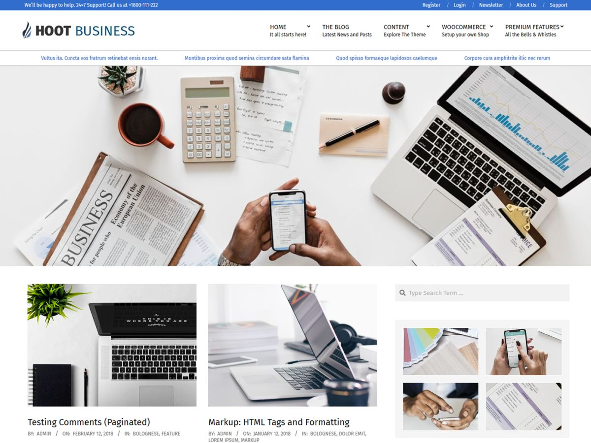 Hoot Business Preview Wordpress Theme - Rating, Reviews, Preview, Demo & Download