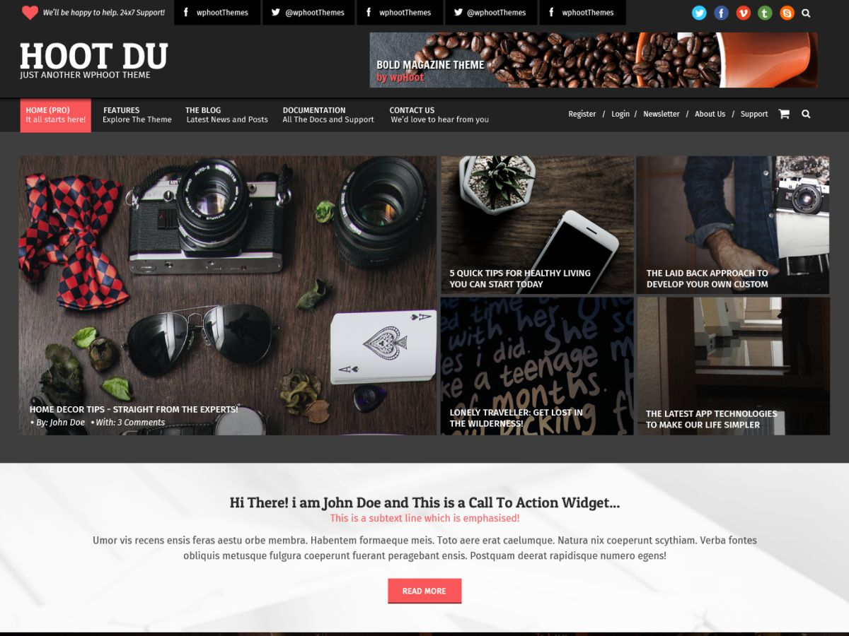 Hoot Du Preview Wordpress Theme - Rating, Reviews, Preview, Demo & Download