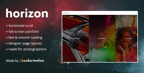 Horizon Portfolio Preview Wordpress Theme - Rating, Reviews, Preview, Demo & Download