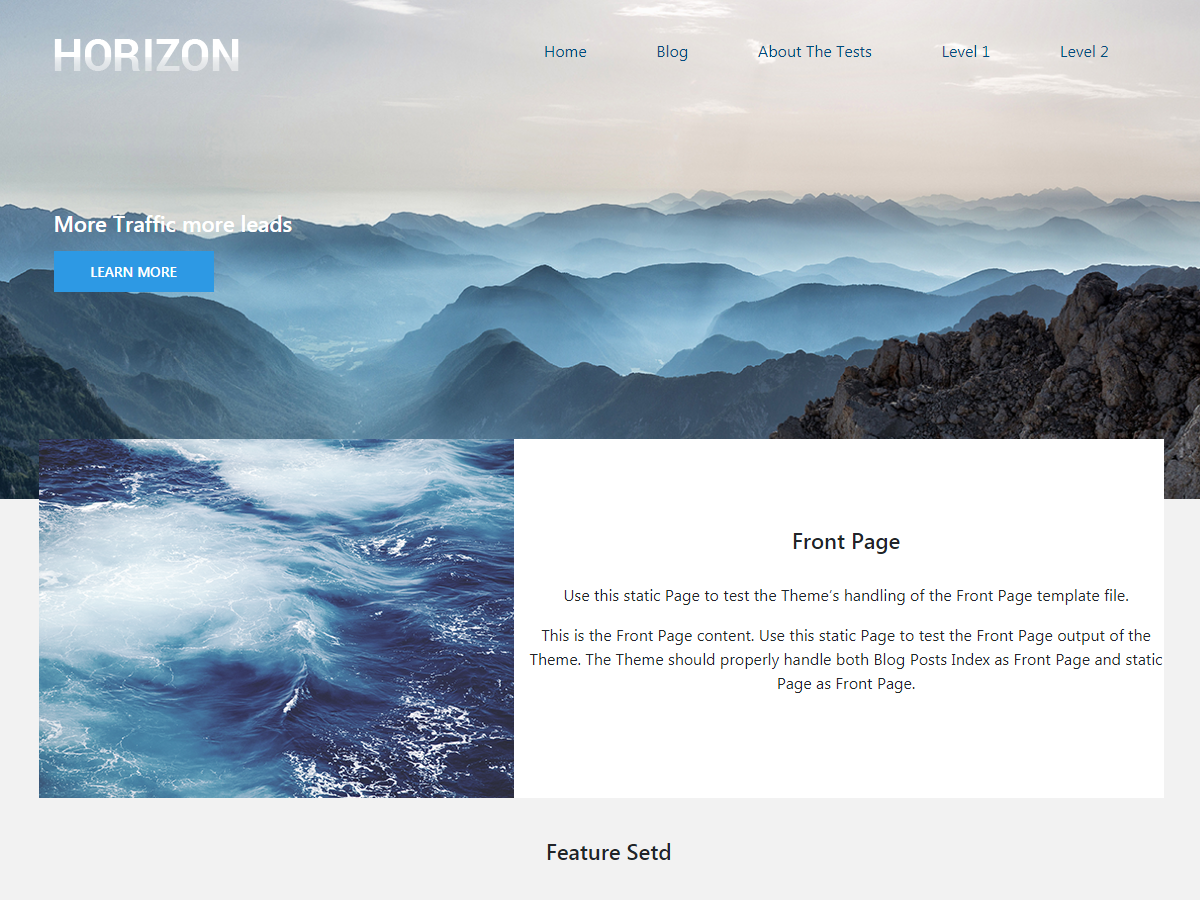 Horizzon Preview Wordpress Theme - Rating, Reviews, Preview, Demo & Download