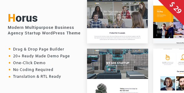 Horus Preview Wordpress Theme - Rating, Reviews, Preview, Demo & Download