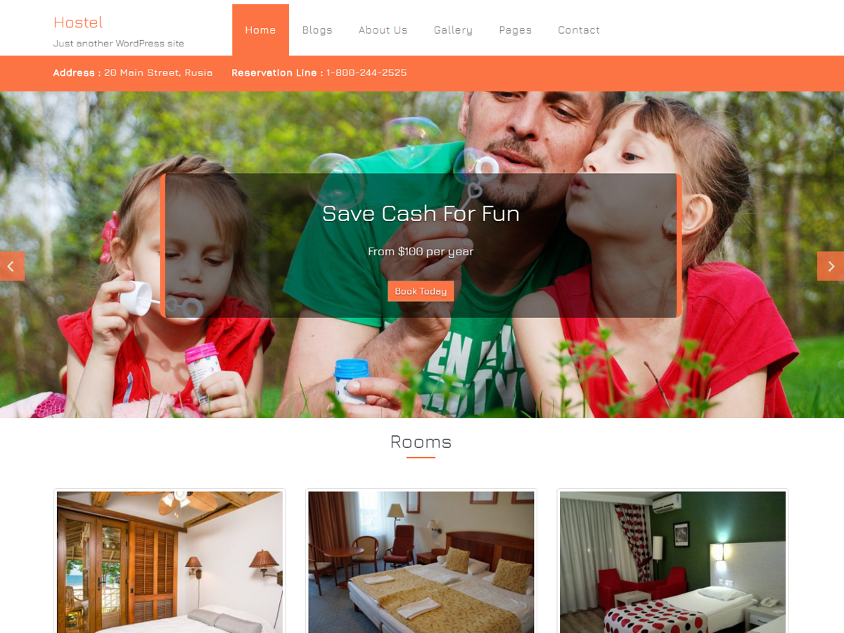 Hostel Preview Wordpress Theme - Rating, Reviews, Preview, Demo & Download