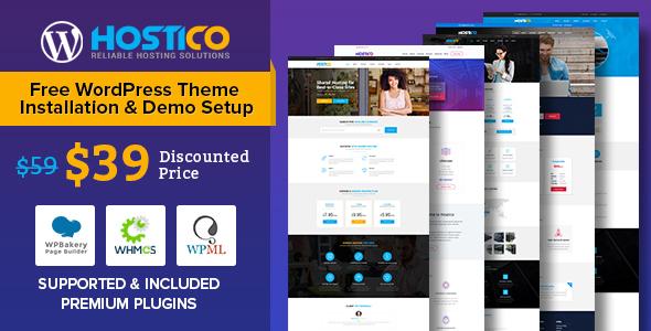 Hostico WordPress Preview Wordpress Theme - Rating, Reviews, Preview, Demo & Download