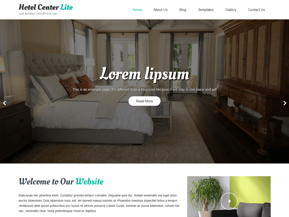 Hotel Center Preview Wordpress Theme - Rating, Reviews, Preview, Demo & Download