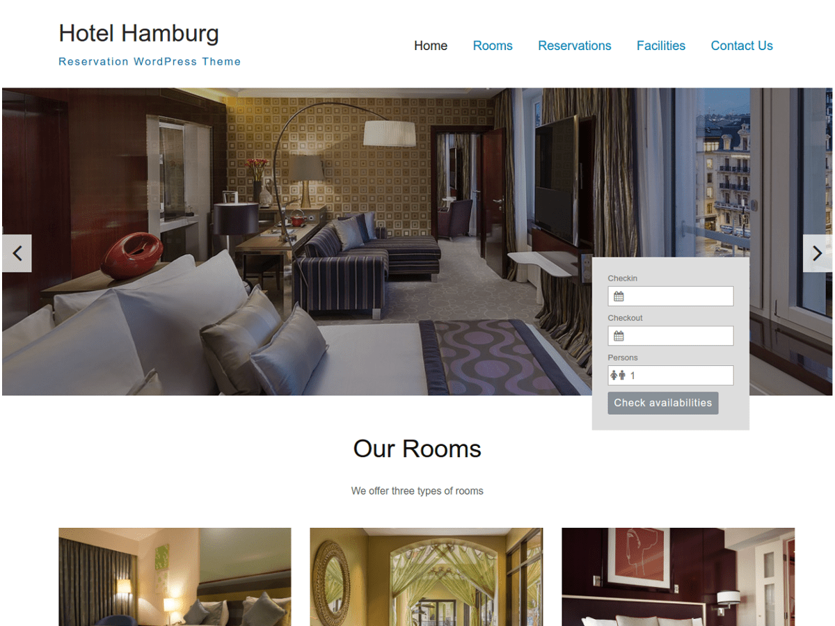 Hotel Hamburg Preview Wordpress Theme - Rating, Reviews, Preview, Demo & Download