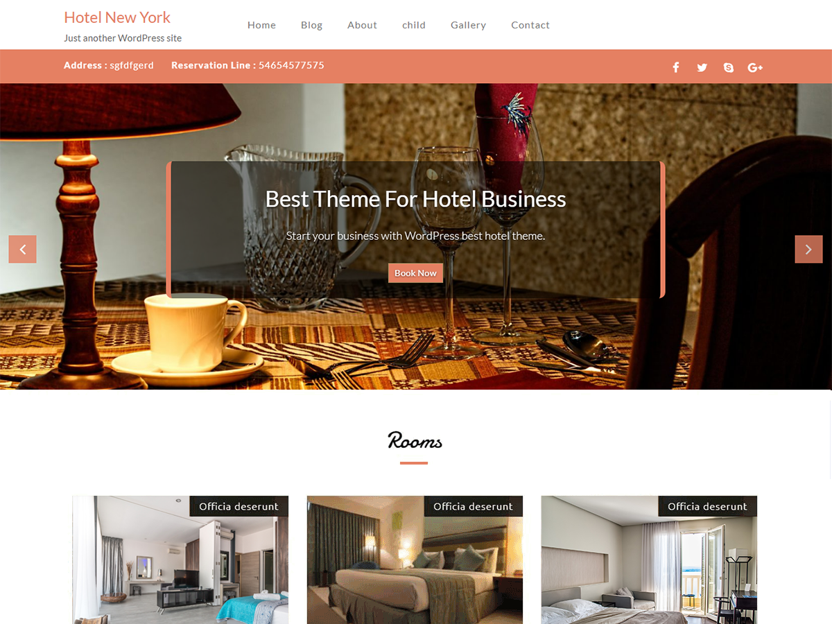 Hotel New Preview Wordpress Theme - Rating, Reviews, Preview, Demo & Download